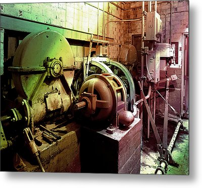 Metal Print featuring the photograph Grunge Hydroelectric Plant by Robert G Kernodle