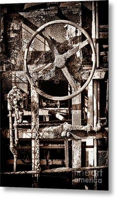 Grunge Machinery Metal Print