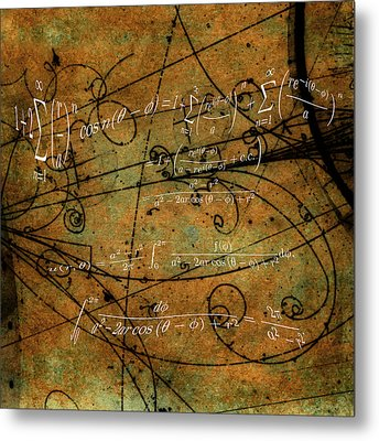 Metal Print featuring the photograph Grunge Math Equations by Robert G Kernodle