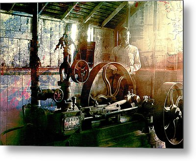 Metal Print featuring the photograph Grunge Meyer Mill by Robert G Kernodle