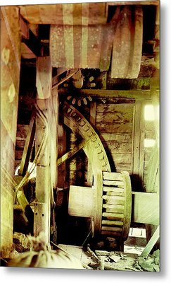 Metal Print featuring the photograph Grunge Mill Wheels by Robert G Kernodle
