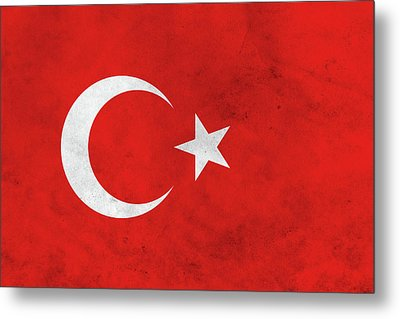 Grunge Turkey Flag Metal Print by Dan Sproul