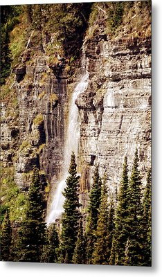 Gtts Waterfall Metal Print by Marty Koch