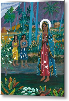 Guadalupe Visits Gauguin Metal Print by James Roderick
