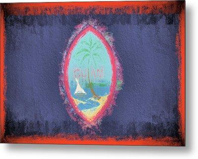 Metal Print featuring the digital art Guam Flag by JC Findley