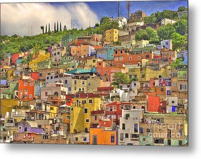 Guanajuato Hillside Metal Print by Juli Scalzi