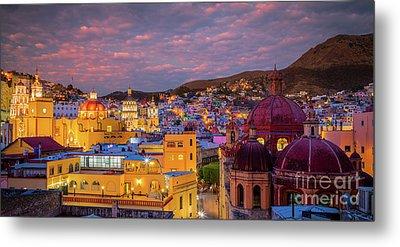 Guanajuato Twilight Panorama Metal Print by Inge Johnsson
