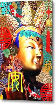 Guanyin Metal Print by Stacey Chiew