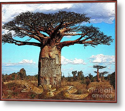 Guard Of Baobab Metal Print