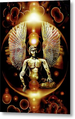 Guardian  Archangel Metal Print