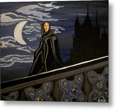 Metal Print featuring the painting Guardian by Carolyn Cable