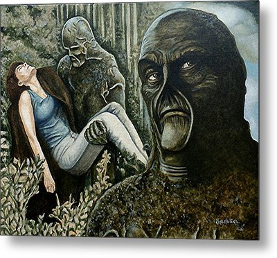 Metal Print featuring the painting Guardian Of The Swamp by Al  Molina