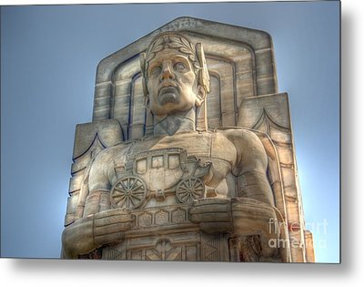 Guardian Of Traffic Metal Print by David Bearden