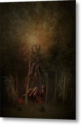 Guardians Of The Forest Metal Print by Terry Fleckney