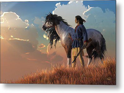 Metal Print featuring the digital art Guardians Of The Plains by Daniel Eskridge