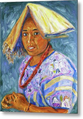 Metal Print featuring the painting Guatemala Impression II by Xueling Zou