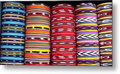 Guatemalan Textiles 2 Metal Print by Douglas Barnett