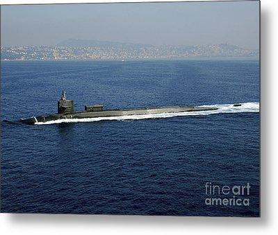 Guided-missile Submarine Uss Georgia Metal Print by Stocktrek Images