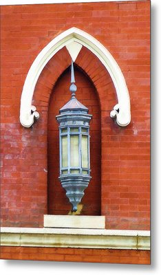 Guiding Light At The Mother Church Metal Print by Sandy MacGowan