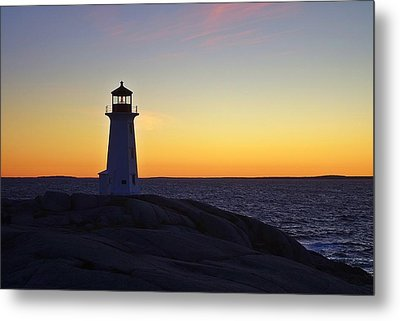 Peggy's Cove Lighthouse Metal Print by Heather Vopni
