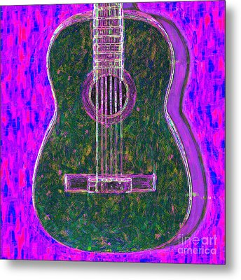 Guitar - 20130123v2 Metal Print by Wingsdomain Art and Photography