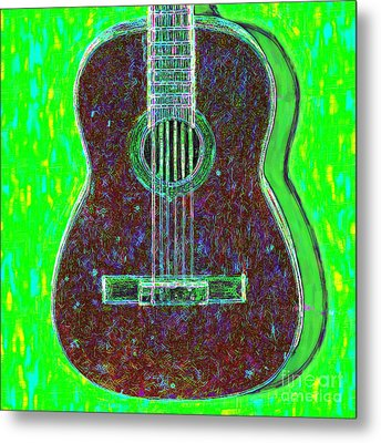 Guitar - 20130123v4 Metal Print by Wingsdomain Art and Photography