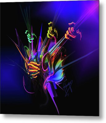 Guitar 3000 Metal Print by DC Langer