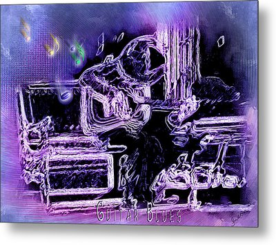 Metal Print featuring the photograph Guitar Blues by Susan Kinney