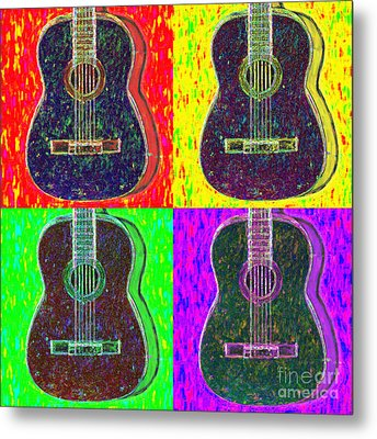 Guitar Four 20130123v1 Metal Print by Wingsdomain Art and Photography