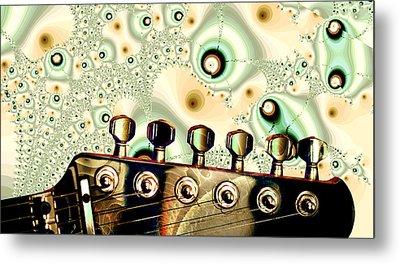 Guitar Head - Fantasy - Musical Instruments Metal Print by Anastasiya Malakhova