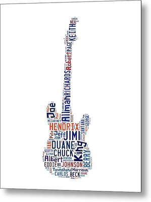 Guitar Legends Metal Print by Bill Cannon