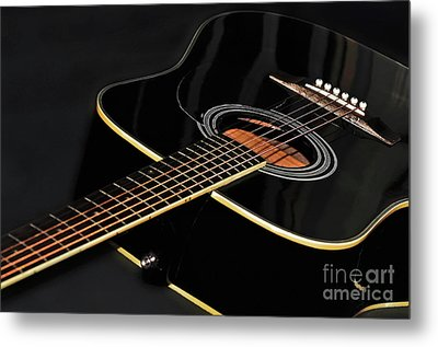Metal Print featuring the photograph Guitar Low Key By Kaye Menner by Kaye Menner