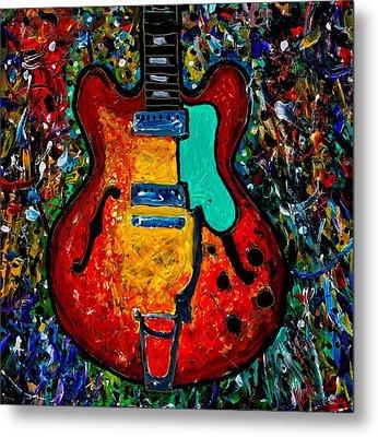 Guitar Scene Metal Print