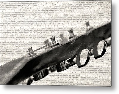 Metal Print featuring the photograph Guitar Street Art By Kaye Menner by Kaye Menner