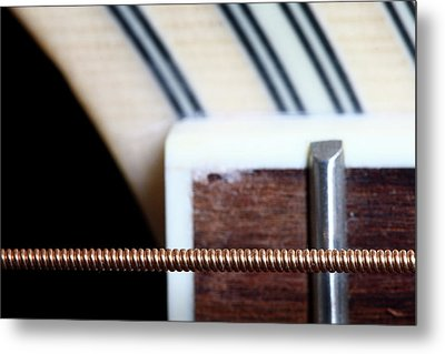 Guitar String Metal Print by Mizanur Rahman