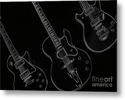 Guitar Trio Metal Print by Karol Livote