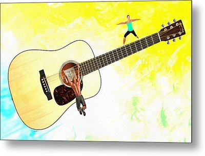 Guitar Workout Metal Print by Anthony Caruso