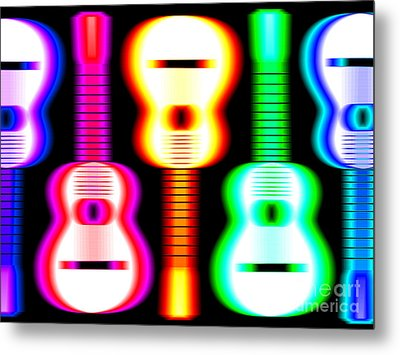 Guitars On Fire 3 Metal Print by Andy Smy