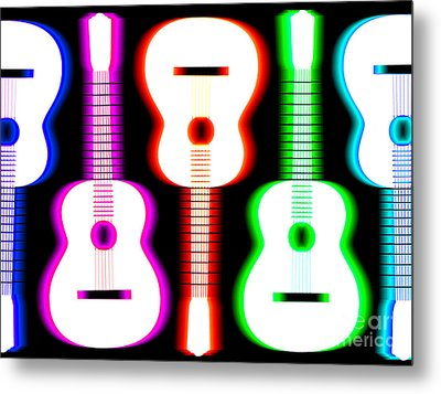 Guitars On Fire 5 Metal Print by Andy Smy