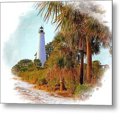 Gulf Coast Lighthouse 1 Metal Print by Marty Koch