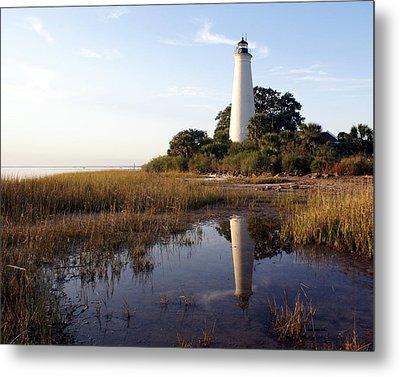 Gulf Coast Lighthouse2  Metal Print by Marty Koch