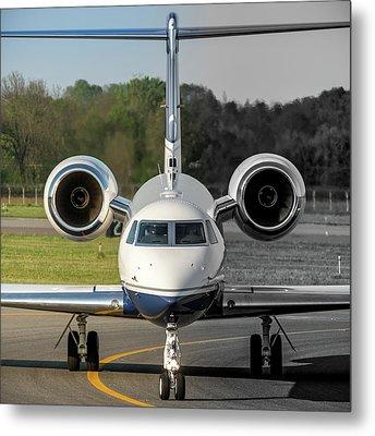 Gulfstream Aerospace G500 I-delo Frontal.nef Metal Print by Roberto Chiartano