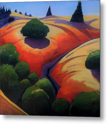 Metal Print featuring the painting Gully by Gary Coleman