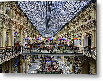 Gum Department Store Interior - Red Square - Moscow Metal Print by Jon Berghoff