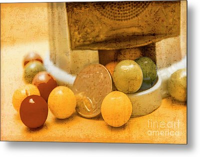 Gumballs Dispenser Antiques Metal Print by Jorgo Photography - Wall Art Gallery