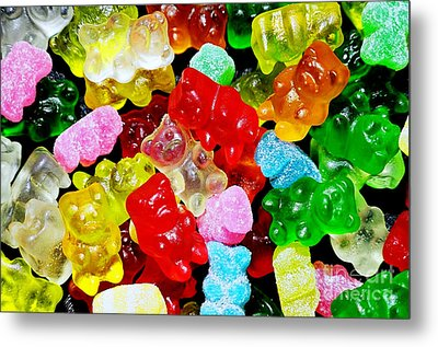 Metal Print featuring the photograph Gummy Bears by Vivian Krug Cotton