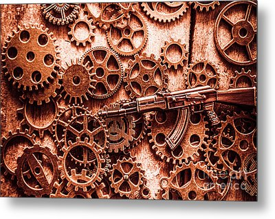 Guns Of Machine Mechanics Metal Print