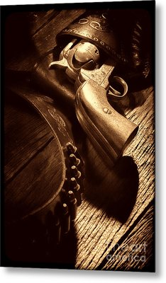 Gunslinger Tool Metal Print by American West Legend By Olivier Le Queinec