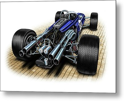 Gurney Eagle F-1 Car Metal Print by David Kyte