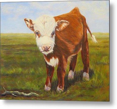 Gus, Cow Metal Print